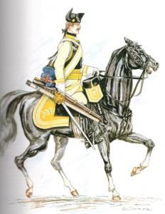 Kürassier des KR 7 um 1760