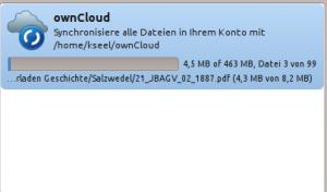 Synchronisation von mehr als 400 MB