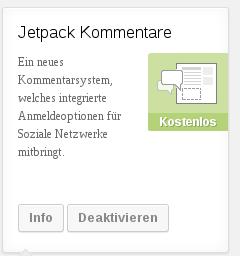 """Erst nach dem Klick auf """"Info"""" wird der Button """"Deaktivieren"""" sichtbar"""