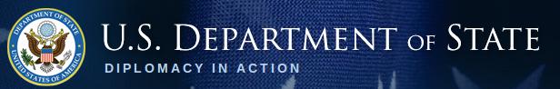 Kopf der Webseite des US-Aussenministeriums