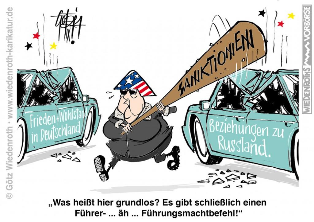 Sanktionswut gegen Ru§land: Angela Merkel in Springerstiefeln un